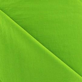Tissu déperlant souple vert anis x 10cm