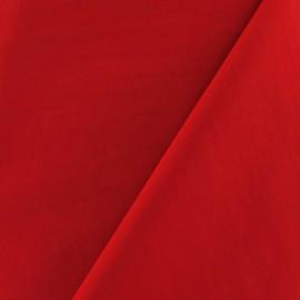 Tissu déperlant souple rouge x 10cm