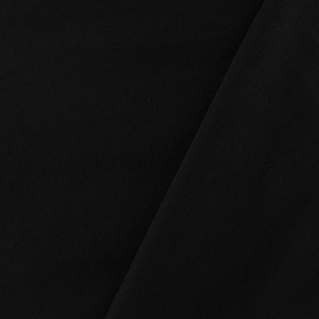 Smooth Water-repellent Softshell fabric ? Black x 10cm