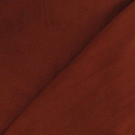 Tissu velours milleraies 200gr/ml V2 brique x 10cm