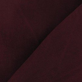Tissu velours milleraies 200gr/ml V2 grenat x 10cm