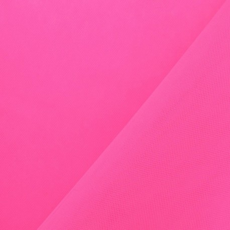 Big Width Tulle - Fluo Cherry x 1m