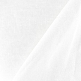 Linen Fabric - White x 10cm
