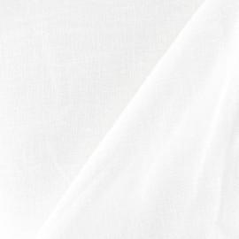 Tissu Lin blanc x 10cm