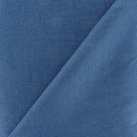 Tissu Lin bleu gris x 10cm