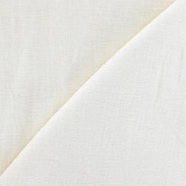 Tissu lin vanille  x 10cm