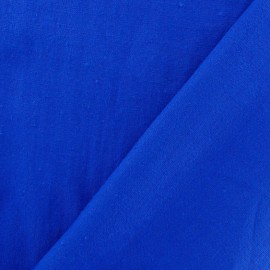 Tissu Lin bleu roy  x 10cm