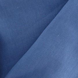 Tissu Lin bleu horizon  x 10cm