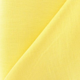 Tissu lin jaune x 10cm