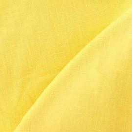 Tissu Lin jaune mimosa  x 10cm