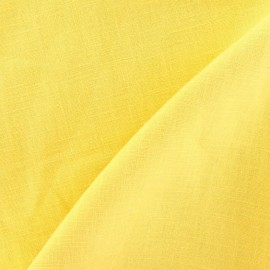 Linen Fabric - Mimosa Yellow x 10cm