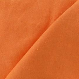 Tissu lin corail orangé  x 10cm