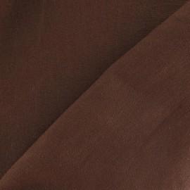 Tissu Lin chocolat x 10cm