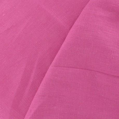 Tissu Lin fuchsia x 10cm
