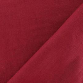 Tissu Lin bourgogne x 10cm