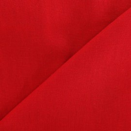 Tissu lin coquelicot  x 10cm