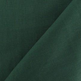 Tissu Lin vert bouteille x 10cm