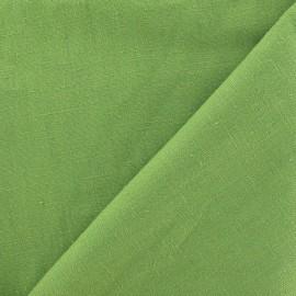 Tissu Lin vert asperge  x 10cm
