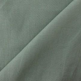 Tissu lin vert lichen  x 10cm