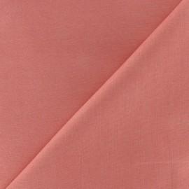 Tissu Coton uni rose corail