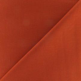 Tissu Coton uni - brique x 10cm