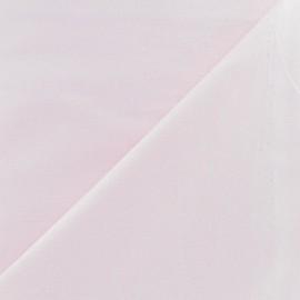 Tissu Coton uni rose dragée