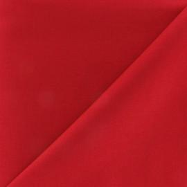 Tissu Coton uni rouge
