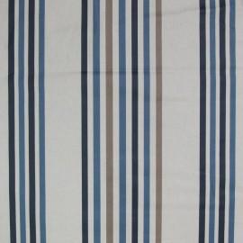 Tissu enduit coton Benodet brun/bleu x 10cm
