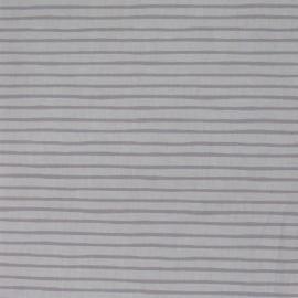 Tissu coton Marinière Ludique écru x 10cm