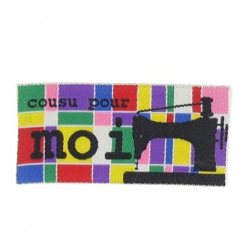 "Label ""Cousu pour moi"" mosaic - multicolored"