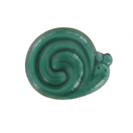 Button, snail - green