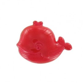 Bouton Baleine rouge