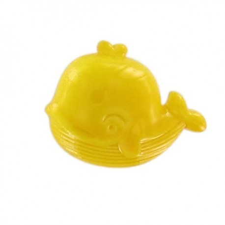 Whale button - yellow