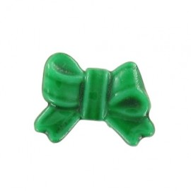 Bow-tie button - green