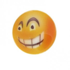Button, Smiley Angry - orange
