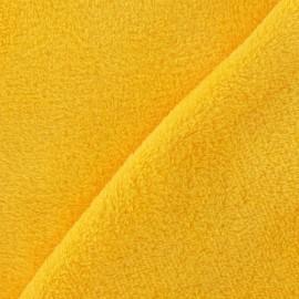Tissu Doudou uni jaune x 10cm