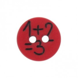 "Round-shaped button ""1+2"" - red"