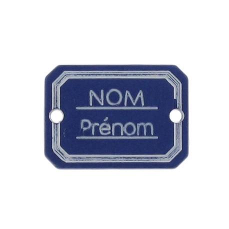 Bouton rectangle Nom/Prénom marine