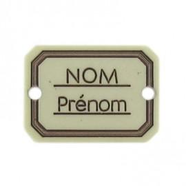 Bouton rectangle Nom/Prénom écru