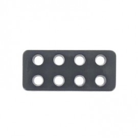 Bouton rectangle Lego gris