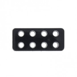 Button, Lego rectangle-shaped - black