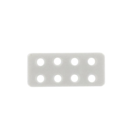 Button, Lego rectangle-shaped - white