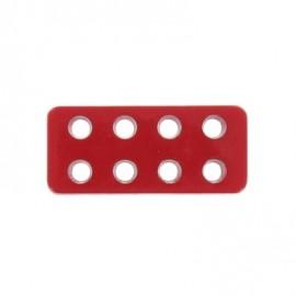 Bouton rectangle Lego rouge