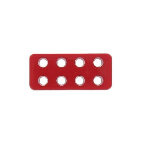 Button, Lego rectangle-shaped - red