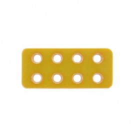 Bouton rectangle Lego bouton d'or