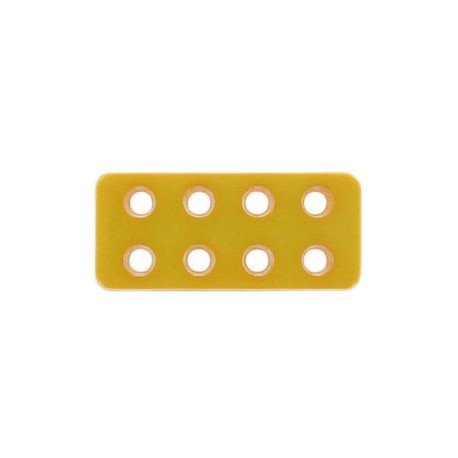 Button, Lego rectangle-shaped - buttercup-colored