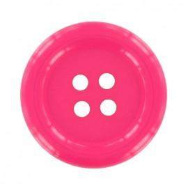 Clown button - bright pink