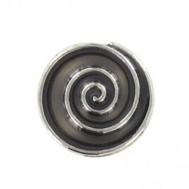 Bouton Strass Spirale noir