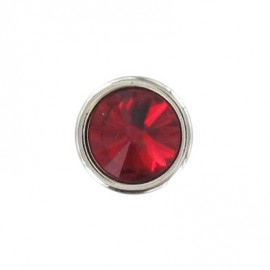 Bouton Strass Rond rouge