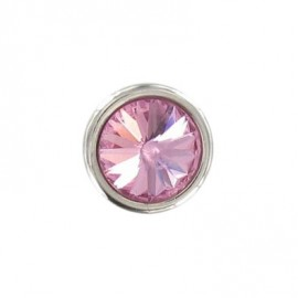 Bouton Strass Rond rose